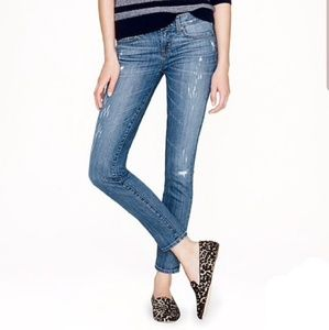 J.Crew Distressed Toothpick Ankle denim